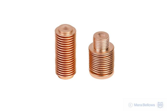 Thermostatic bellows of phosphor bronze