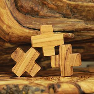 Holy Land Olive Wood Jerusalem Small Crosses