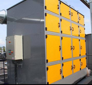 Filtre à brouillard d'huile avec étage de filtration absolue, permettant le recyclage de l'air pour la période hivernale