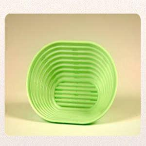 Kunststoffbrotform, oval