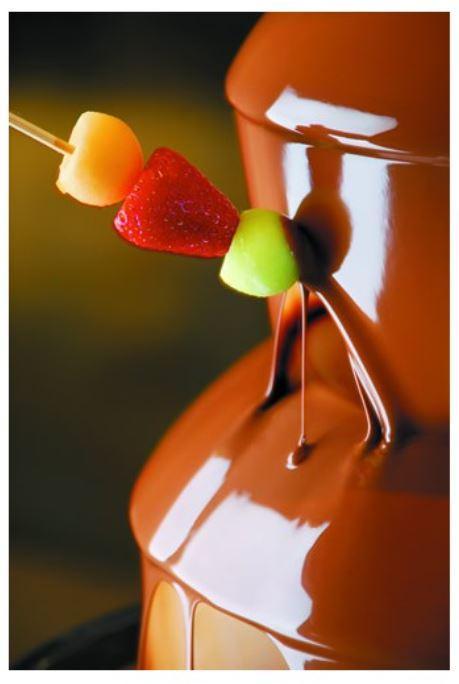 Fontaine à chocolat professionnelle en inox