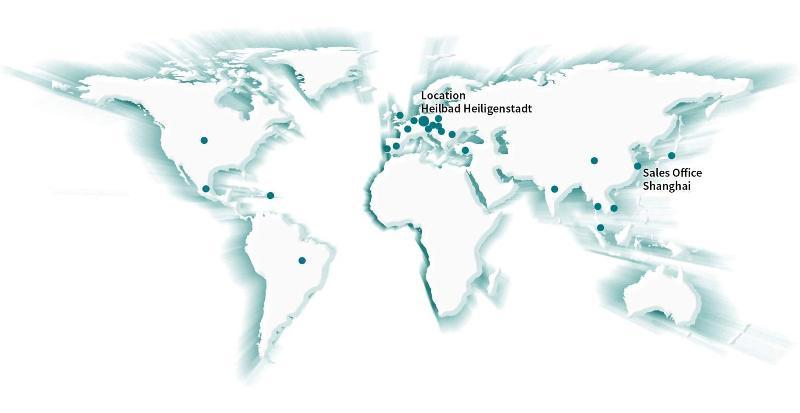 SIM Maschinenstandorte Weltkarte