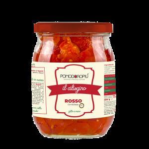 Pomodori ciliegini rossi pelati interi