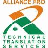 ALLIANCE PRO TECHNICAL TRANSLATION SERVICES