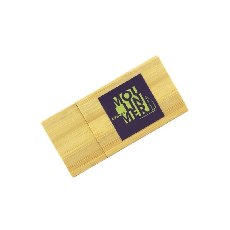 Cle USB Bois Carré, Clé USB Bois & Biodégradable, E-DKADO