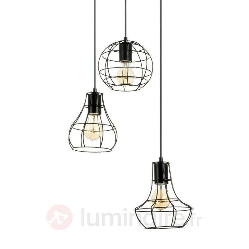 Suspension Outline à 3 Lampes Design Industriel Cuisine Et Salle à