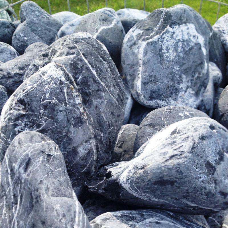Gros galet au détail, Galets marbre noir veiné à l\'unité, GRANULART ...
