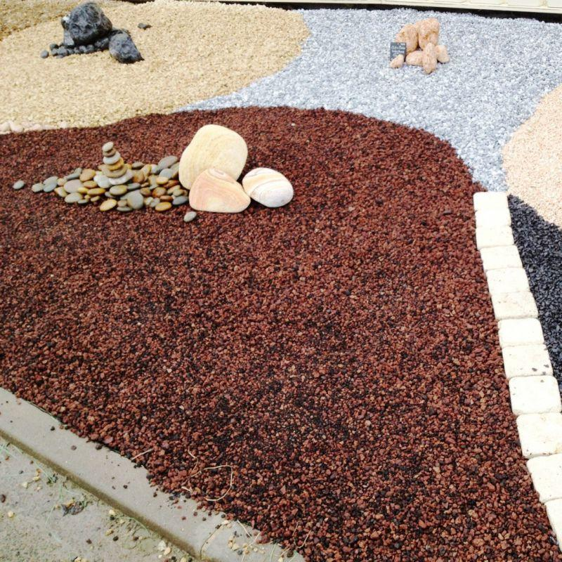Big bag de gravier décoratif, Pouzzolane rouge roche volcanique en ...