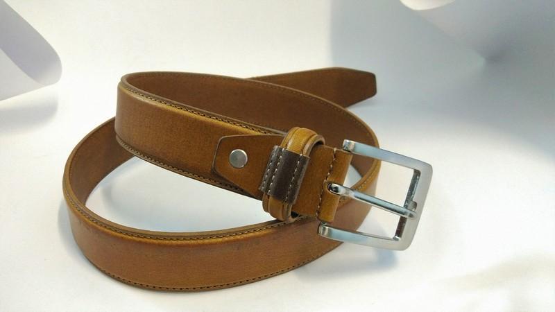 London Tan Formal Belt