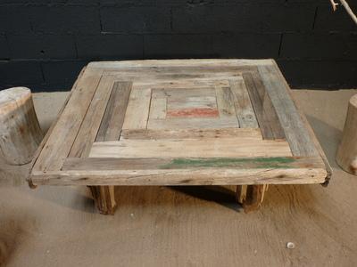 table basse en planches de bois flotté, tables en bois flotte, DECO ...