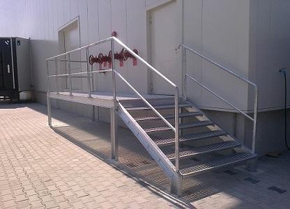 schody stalowe, podesty