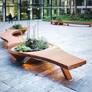 Banc Urbain Botanic Twist Mobilier Urbain Design Tôlerie