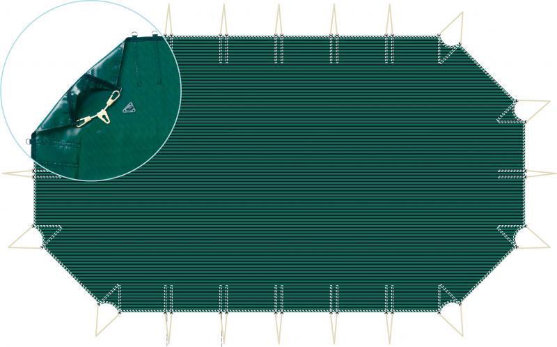 Filet Octogonal Allongé Pour Piscine Hors Sol Bois 8mx4m