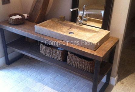 Salle de bain en pierre , Vasque, Bac de douche, Lavabo, LE ...
