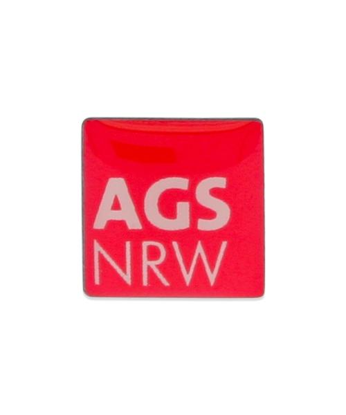 """Pin, bedruckt im Siebdruck – """"AGSNRW"""""""