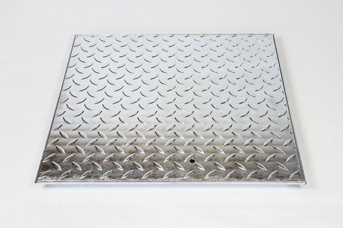 Stahl-Schachtabdeckung, begehbar mit leichtem Rahmen