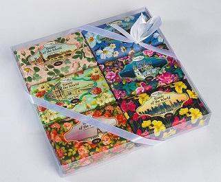 Подарочный набор парфюмированного мыла