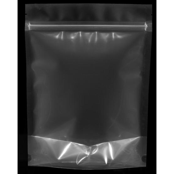 Sachet stand up plastique transparent Zip