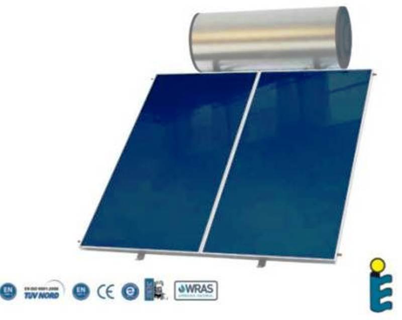 Chauffe eau solaire avec 2 capteurs thermique de 2m²