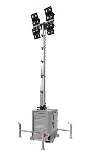 Lichtmast 4 x 350W