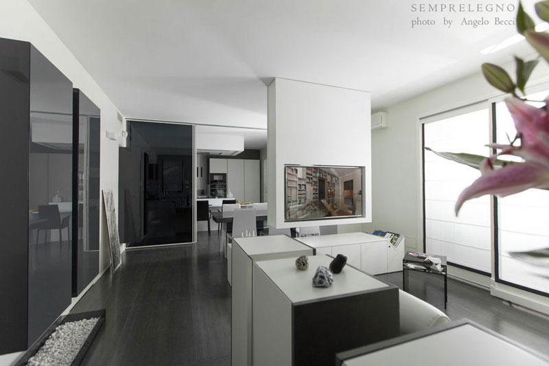 Arredamento su misura per soggiorno design con domotica ...