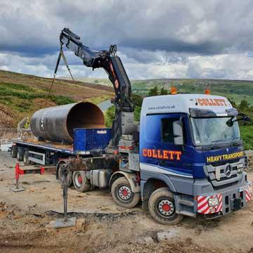 Crane Vehicle for Flood Damaged Dales