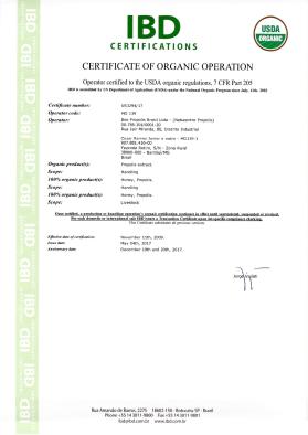 IBD organic certification