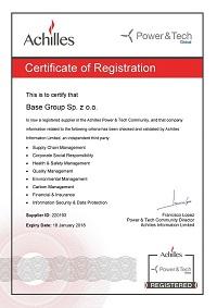 Certificate of Registration in Achilles