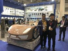 How amazing Ferrari car shown for the 18th Xiamen stone fair