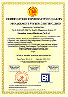 Sunmy was approved by the latest ISO certificate