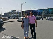 Congratulation on Tony having a business trip for Tajikistan