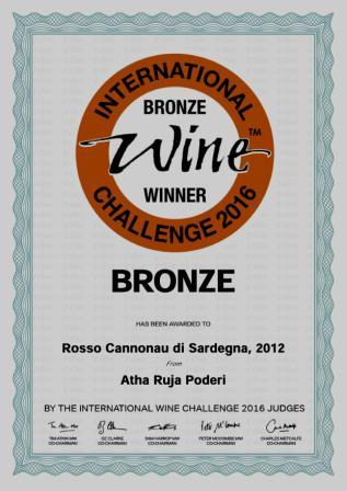 International Wine Challenge IWC 2016 - Medaglia Bronzo