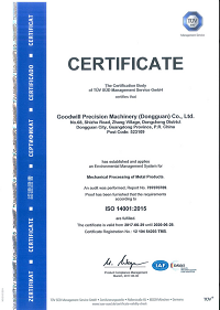 Certified by ISO 14001:2005