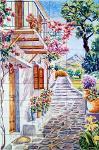 Calle andaluza en azulejos