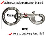 stainless steel swivel bolt snap for horse lead rope