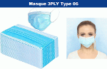 Masque de protection 3 plis