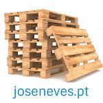 Paletes de madeira, plástico ou cartão