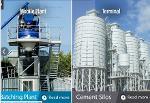 beton santrali ve çimento siloları