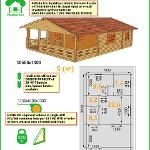 GARDEN CABIN WALL PREFAB DRY TIMBER HOUSE KITS per design