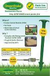 GreenStake Plastic-Free Biodegradable anchoring pin
