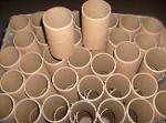 Cardboard tubes of spiral winding