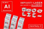 taglio laser tubi in alluminio