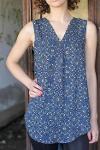 Sleeveless Printed blouse
