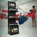 Заказать рекламные торговые стойки Burn. От Bendvis