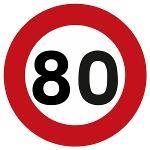 Panneau de limitation 80km/h