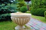 Садовые вазы из шамотной глины