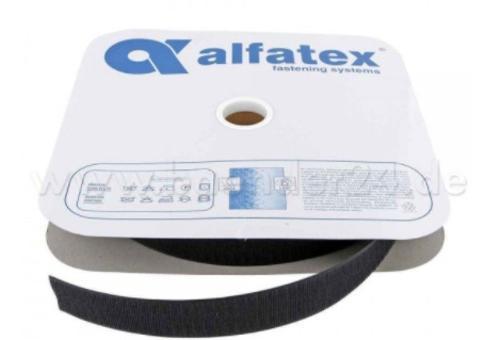 25 m Alfagrip Hakenband - 38 mm breit - Farbe: schwarz