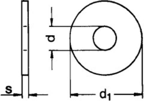 Scheiben für Holzkonstruktionen, Form R (Rundloch)