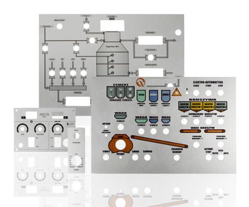 Anodized aluminum control panels