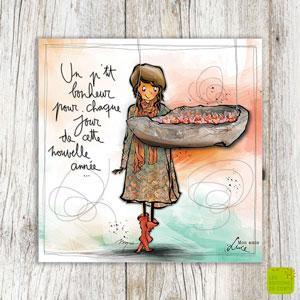 """Carte de voeux """"P'tit bonheur"""""""
